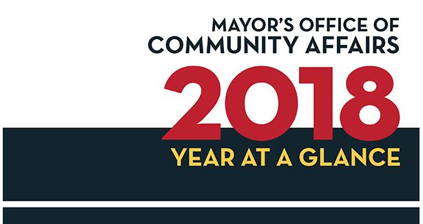 Mayor's Office of Community Affairs 2018 Year at a Glance
